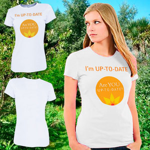 Women's Urban Fit Cotton T-Shirt (printed Front) Sizes 8–20