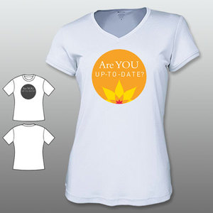 ACCF Awareness Week V-Neck Ladies Sport Tee